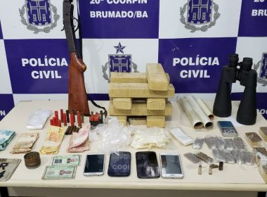 Brumado: Polícia Civil prendeu cinco acusados de tráfico de drogas