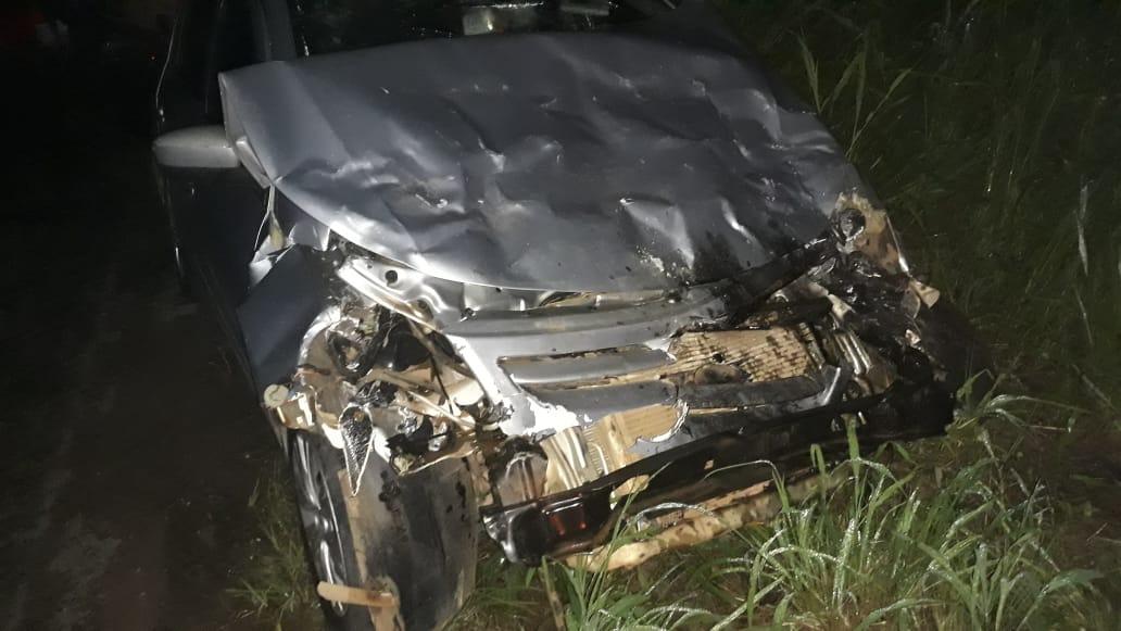 BR-020: Acidente entre três veículos em trecho perigoso de rodovia de acesso a Brasília