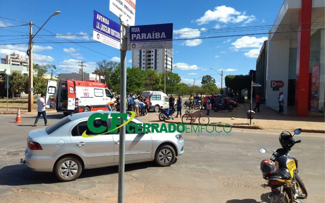 LEM: Colisão deixa vítima no cruzamento da Av. JK com Paraíba