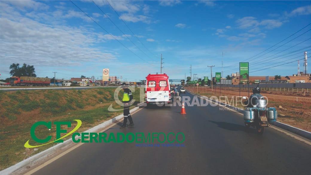 LEM: Ônibus provoca colisão de Motocicleta na Avenida Gov. Ed. Campos