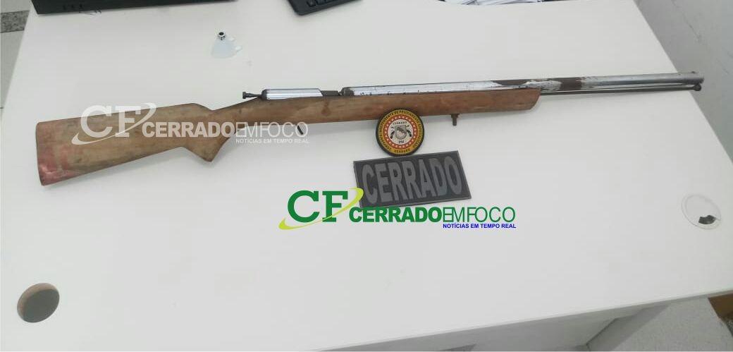Serra do Ramalho-BA: Cipe cerrado faz apreensão de individuo com porte ilegal de arma