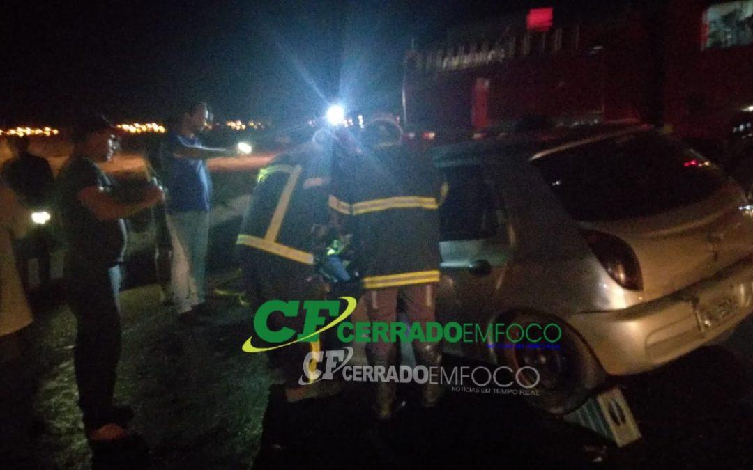 LEM: Grave acidente na BR 020 deixa vítima presa as ferragens