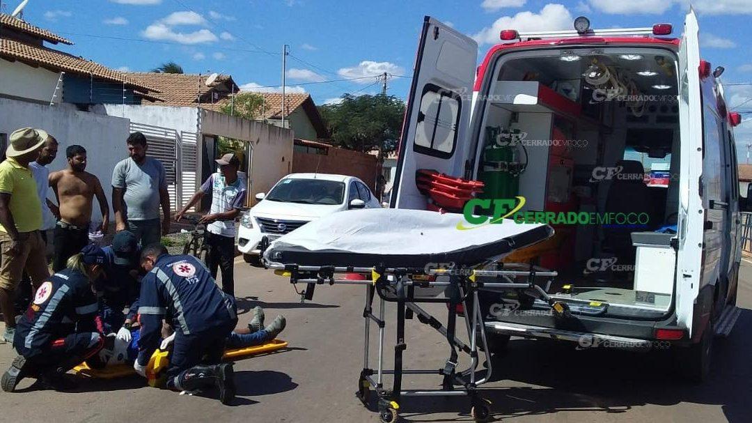 LEM: Motorista não respeita a sinalização e causa acidente