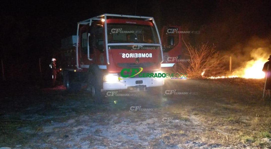 LEM: Corpo de bombeiros controla incêndio no Bairro Bom Recreio