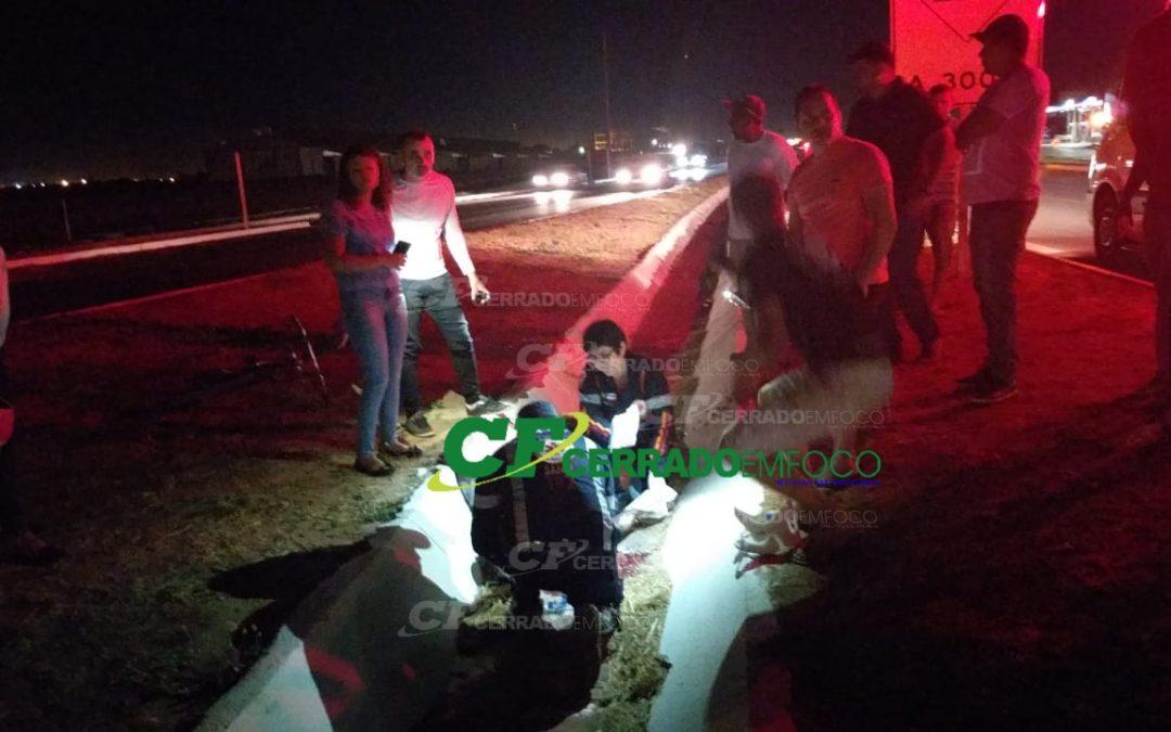 LEM: Atropelamento na BR 242, motorista fugiu do local.