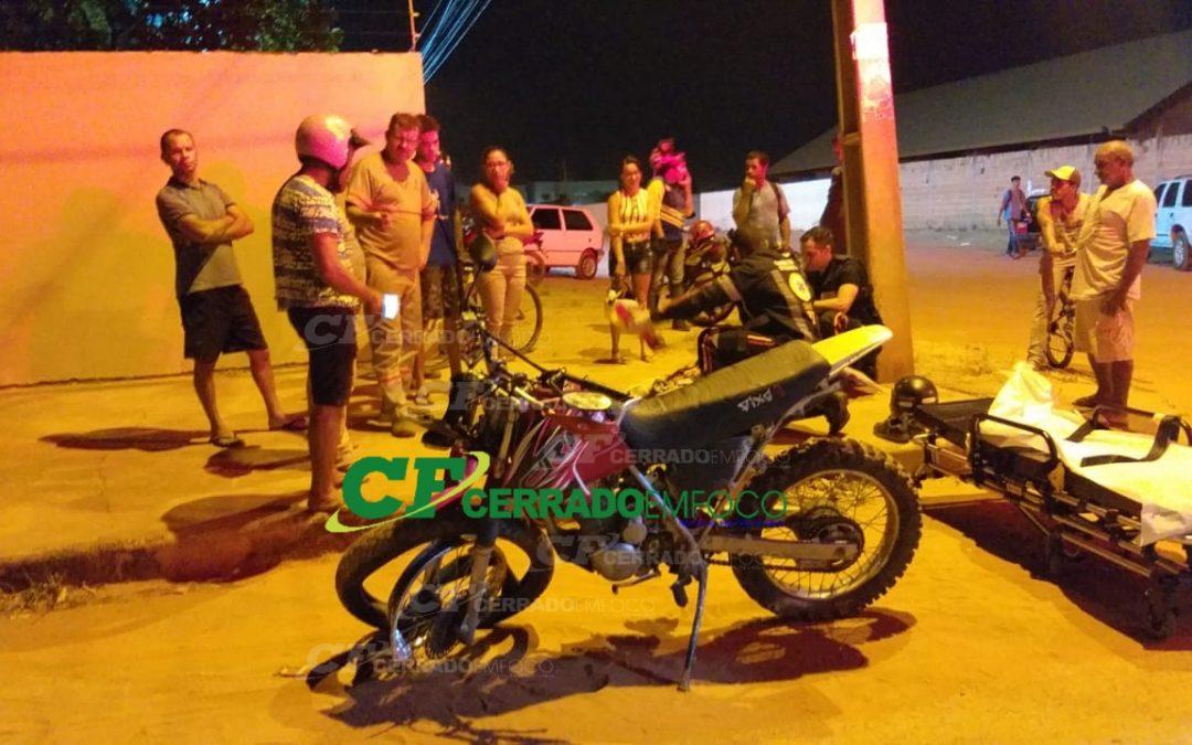 LEM: Colisão entre carro e moto deixa motociclista ferido