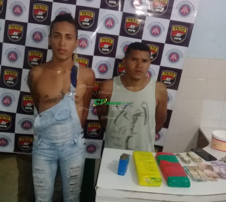Barreiras:Três  indivíduos são presos por tráfico de drogas.