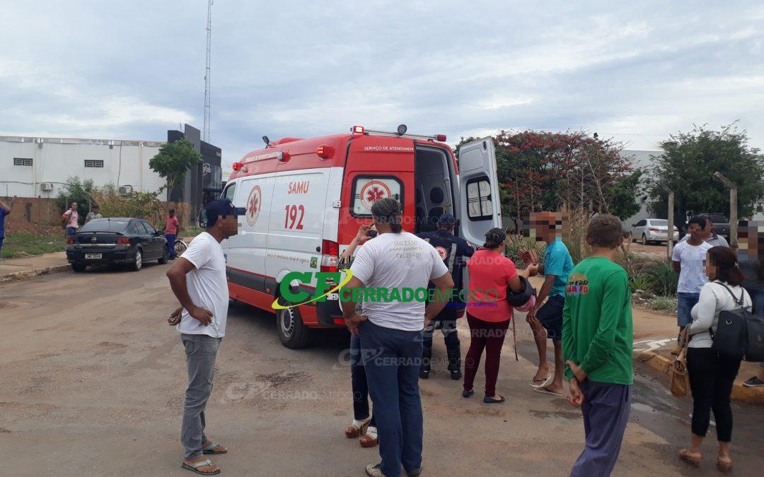 LEM: Mulher fica ferida no centro de Luís Eduardo Magalhães