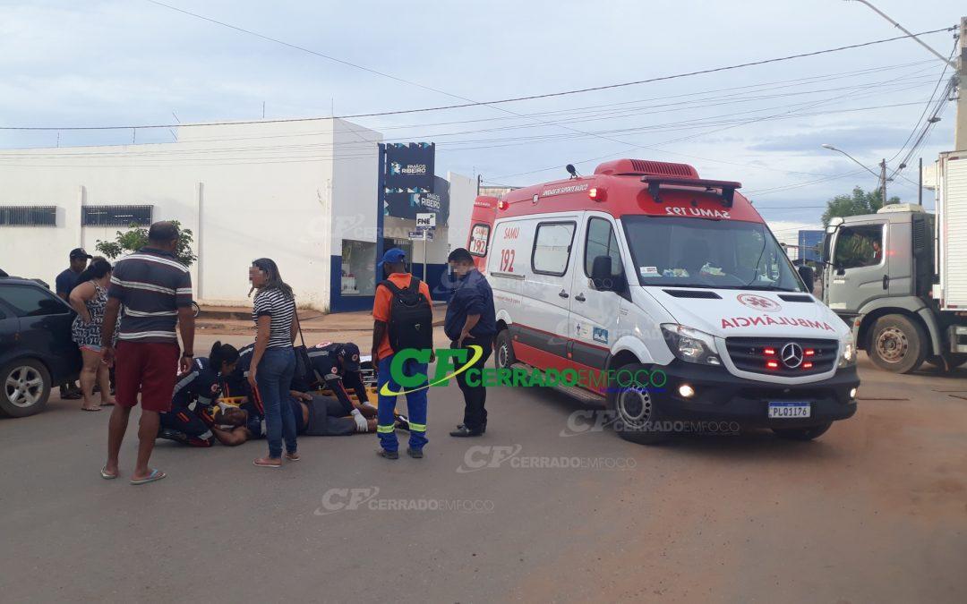LEM: Idoso fica ferido após atropelamento no Bairro Santa Cruz