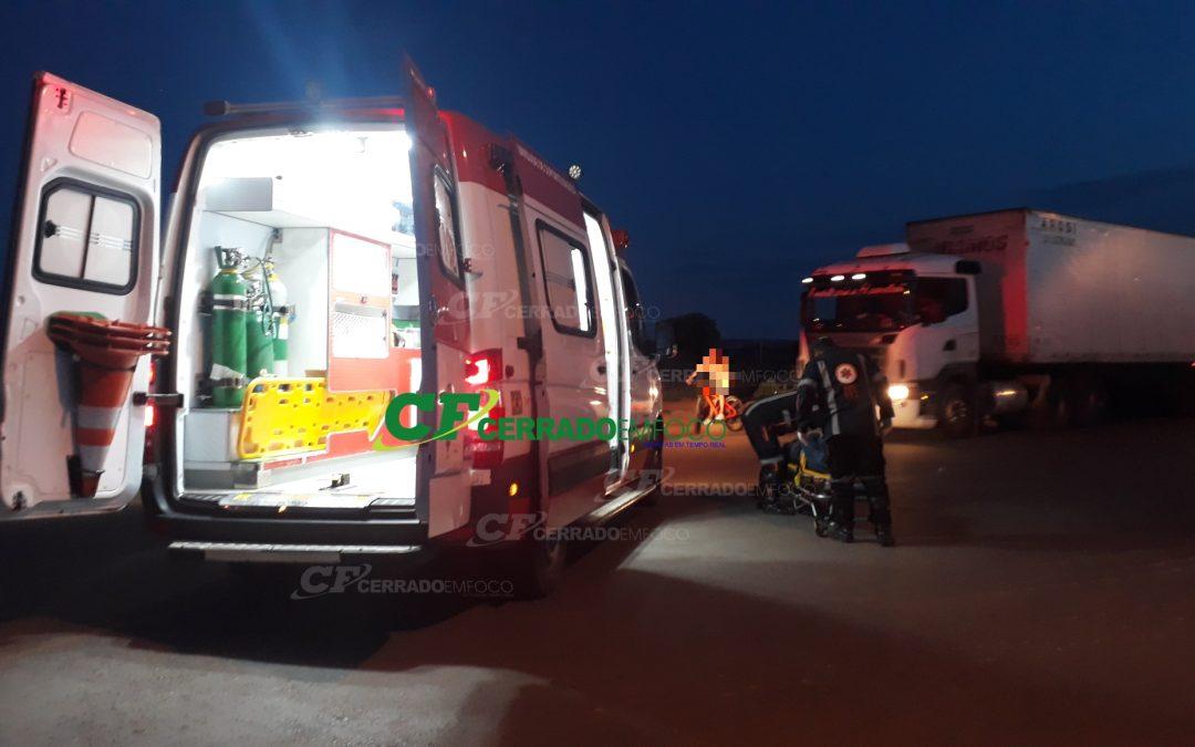 LEM: Ciclista fica ferido no Bairro Santa Cruz
