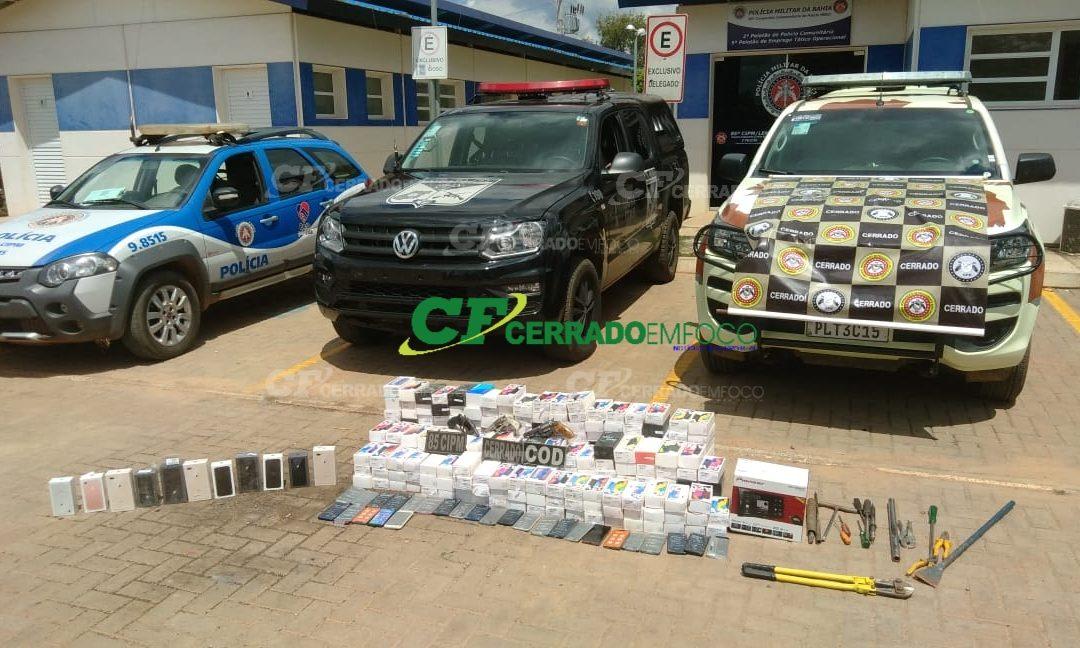 LEM: Operação conjunta da  CIPE CERRADO, COD NORDESTE (GOIÁS) e 85ª CIPM desarticula quadrilha especializada em roubos a lojas de eletrodomésticos.