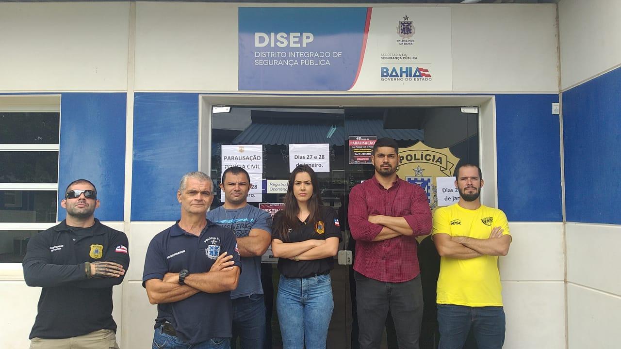 LEM: Servidores da policia CIVIL e PENAL da Bahia paralisam suas atividades por 48 horas.