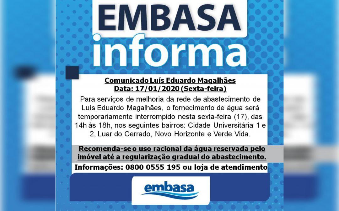 Informativo da EMBASA aos Moradores de LEM