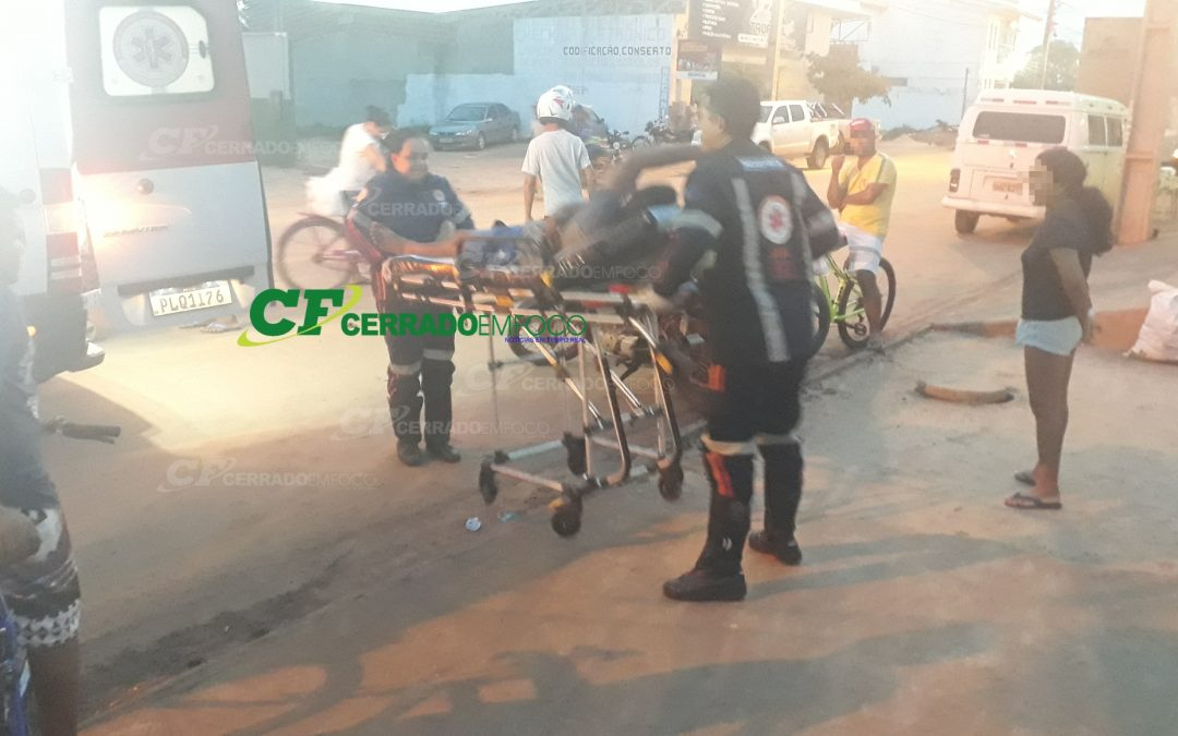LEM: Motociclista fica ferido após se envolver em acidente de trânsito.